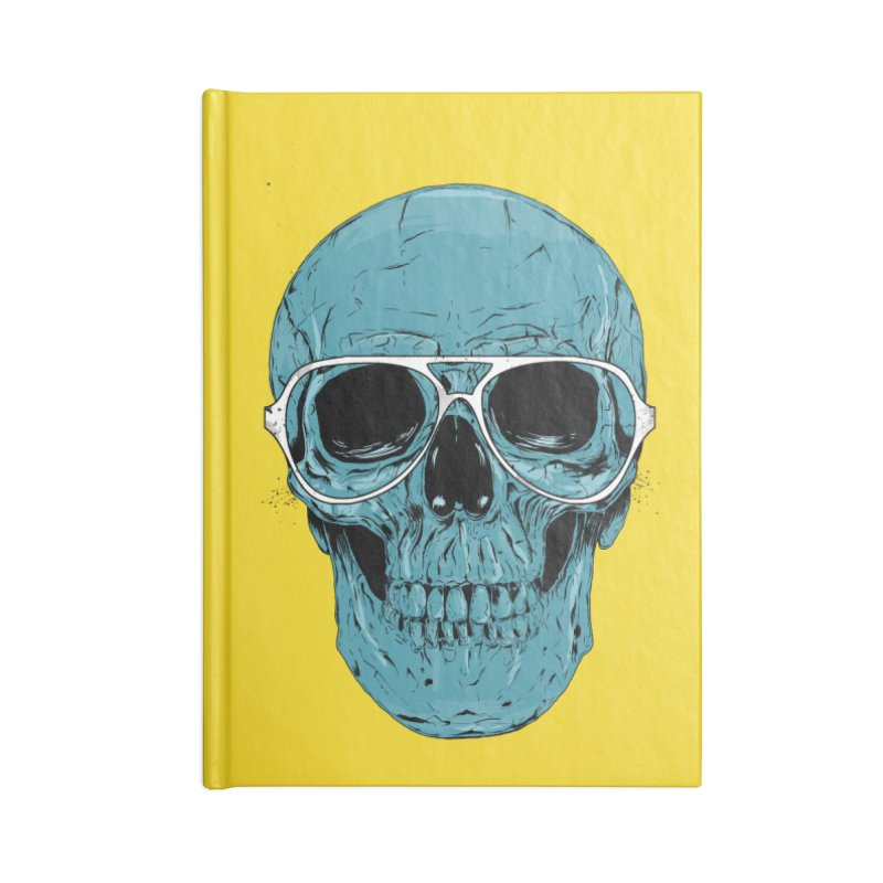 Blue skull II Accessories Lined Journal Notebook by Balazs Solti