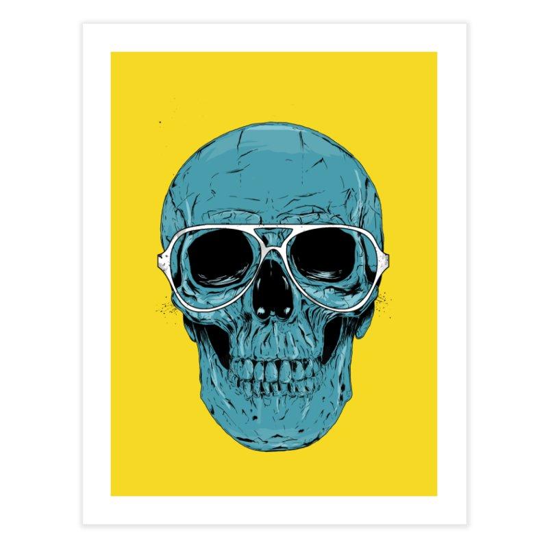Blue skull II Home Fine Art Print by Balazs Solti