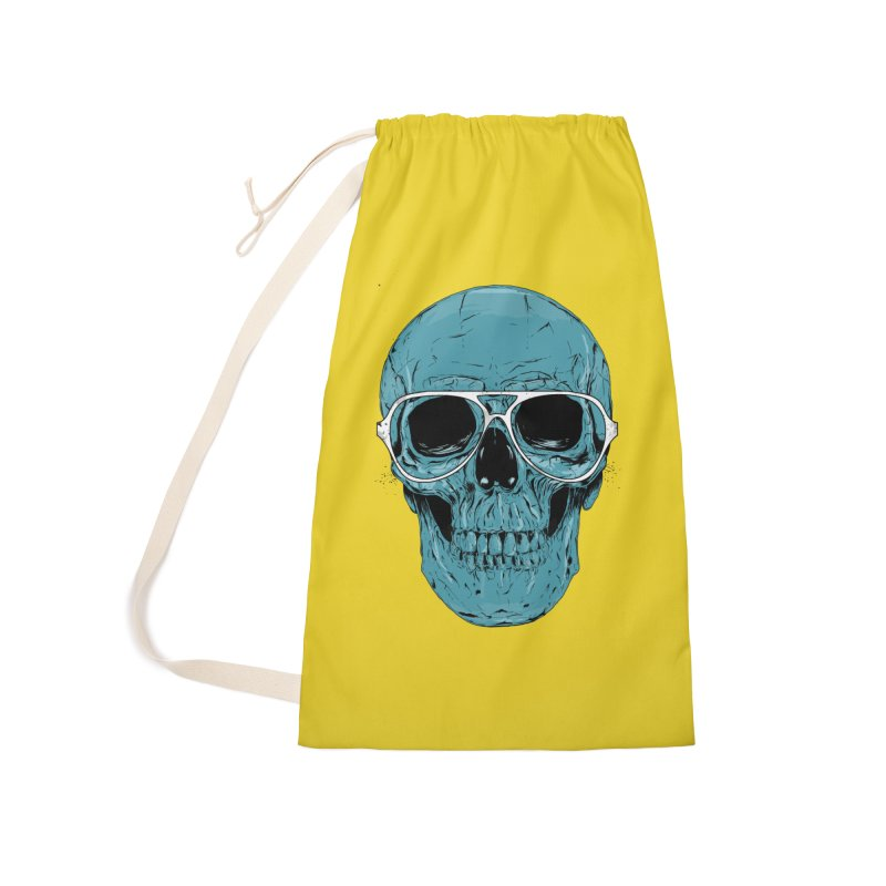Blue skull II Accessories Laundry Bag Bag by Balazs Solti