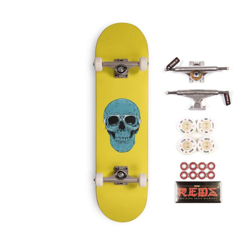 Blue skull II Accessories Complete - Pro Skateboard by Balazs Solti