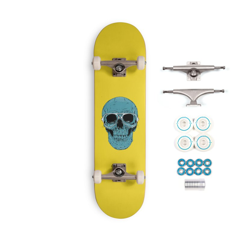 Blue skull II Accessories Complete - Basic Skateboard by Balazs Solti