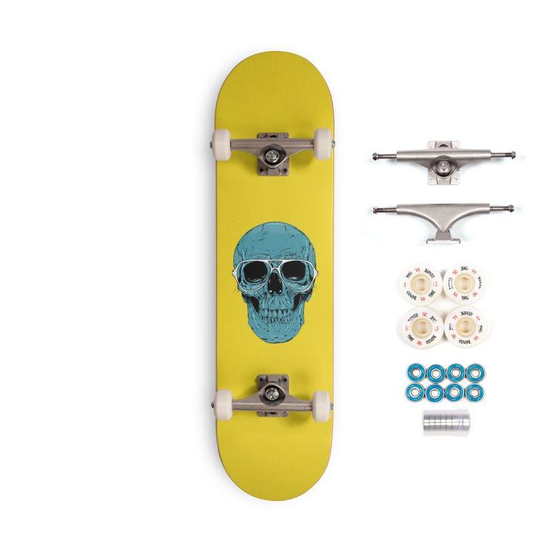 Blue skull II Accessories Complete - Premium Skateboard by Balazs Solti