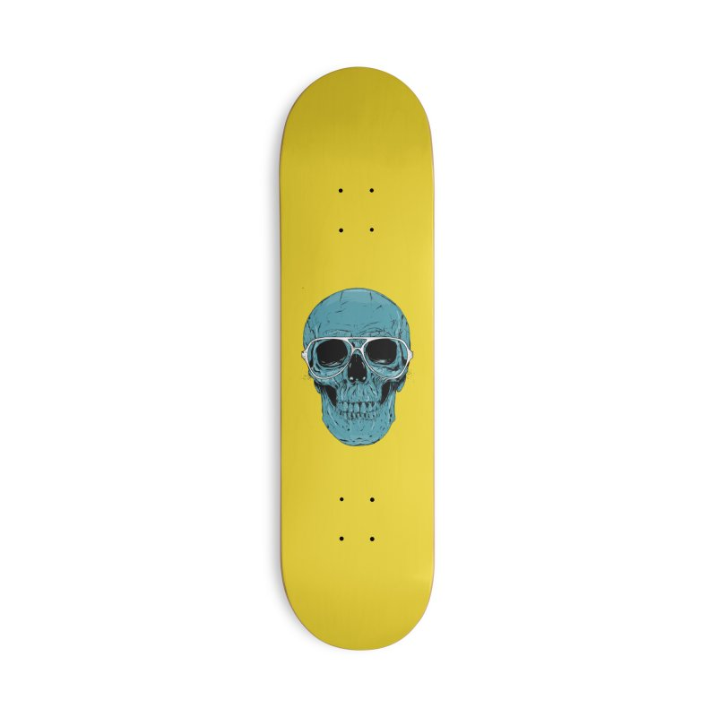 Blue skull II Accessories Deck Only Skateboard by Balazs Solti