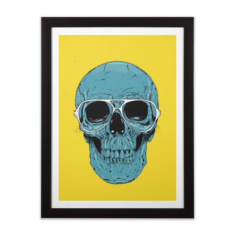 Blue skull II Home Framed Fine Art Print by Balazs Solti