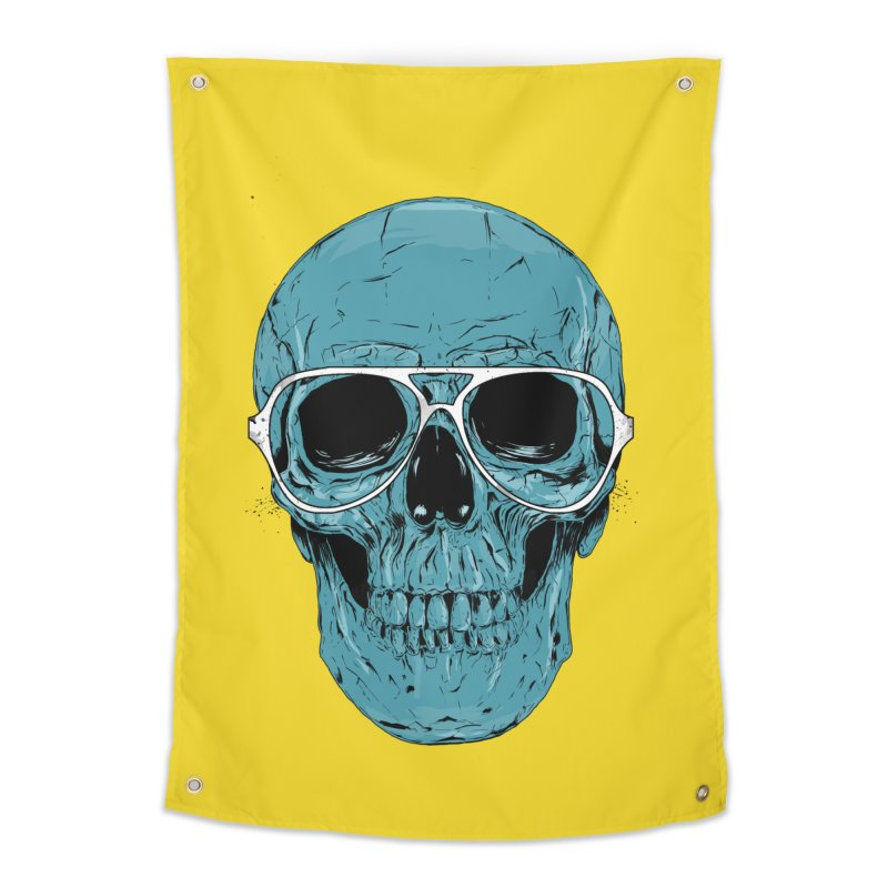 Blue skull II Home Tapestry by Balazs Solti