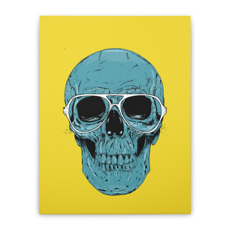 Blue skull II Home Stretched Canvas by Balazs Solti