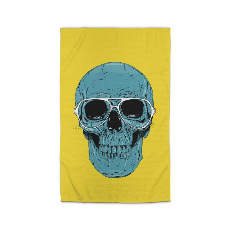 Blue skull II Home Rug by Balazs Solti