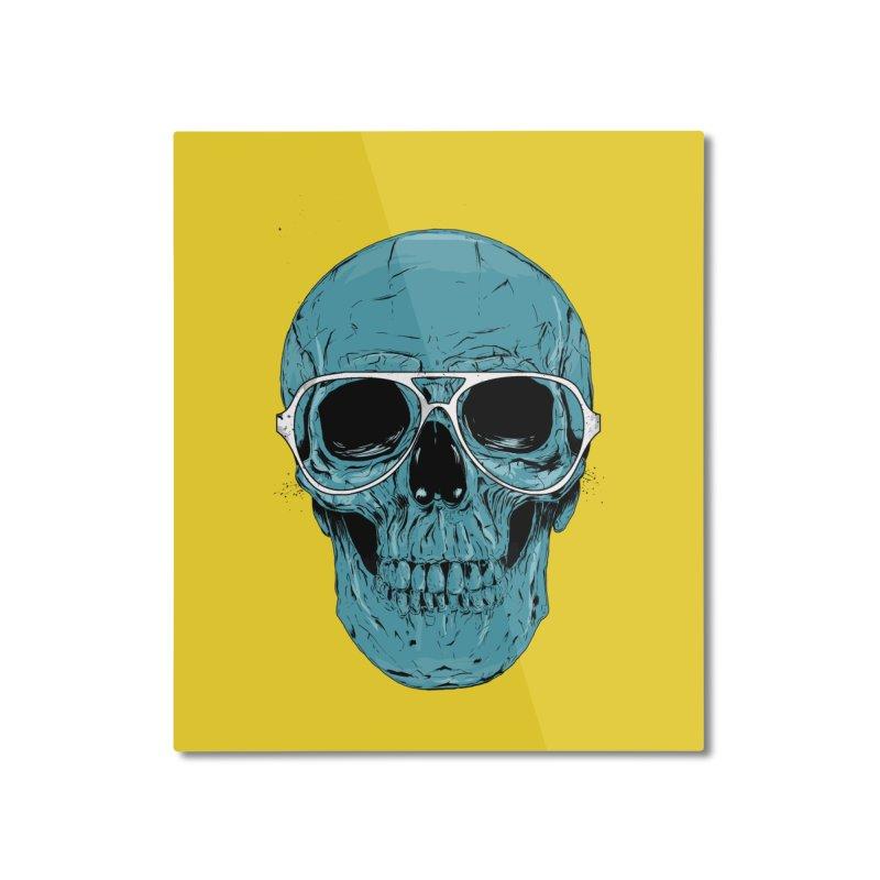 Blue skull II Home Mounted Aluminum Print by Balazs Solti