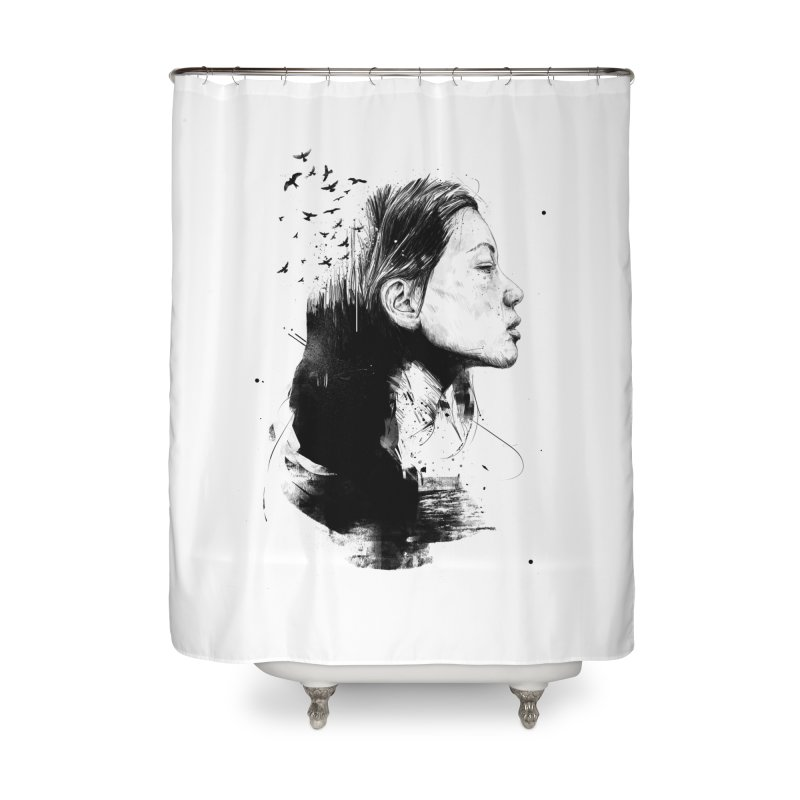Open your mind (bw) Home Shower Curtain by Balazs Solti