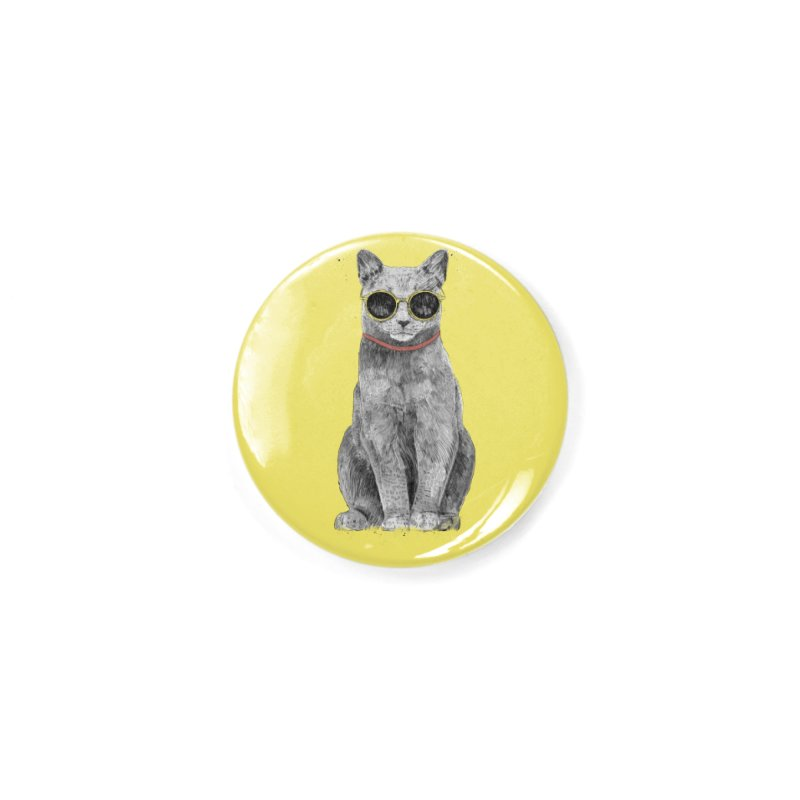 Summer Cat Accessories Button by Balazs Solti