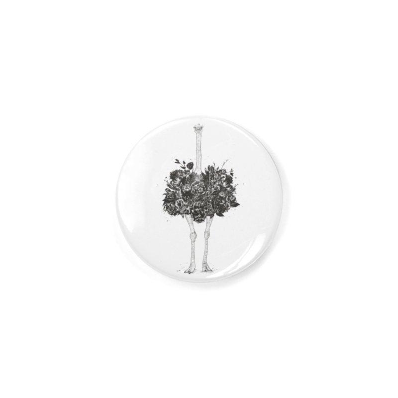 Floral ostrich Accessories Button by Balazs Solti