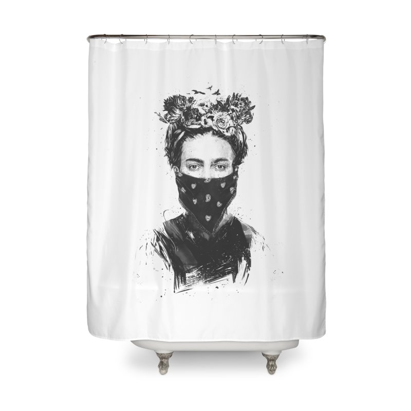Rebel girl Home Shower Curtain by Balazs Solti