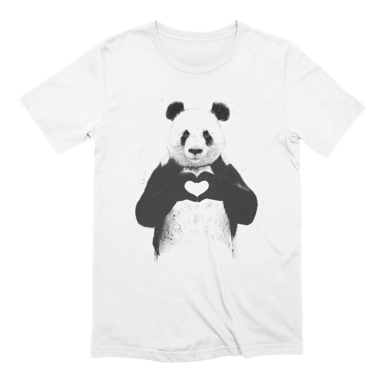All You Need is Love in Men's Extra Soft T-Shirt White by Balazs Solti