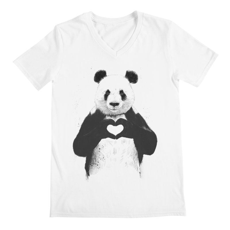 All You Need is Love Men's V-Neck by Balazs Solti