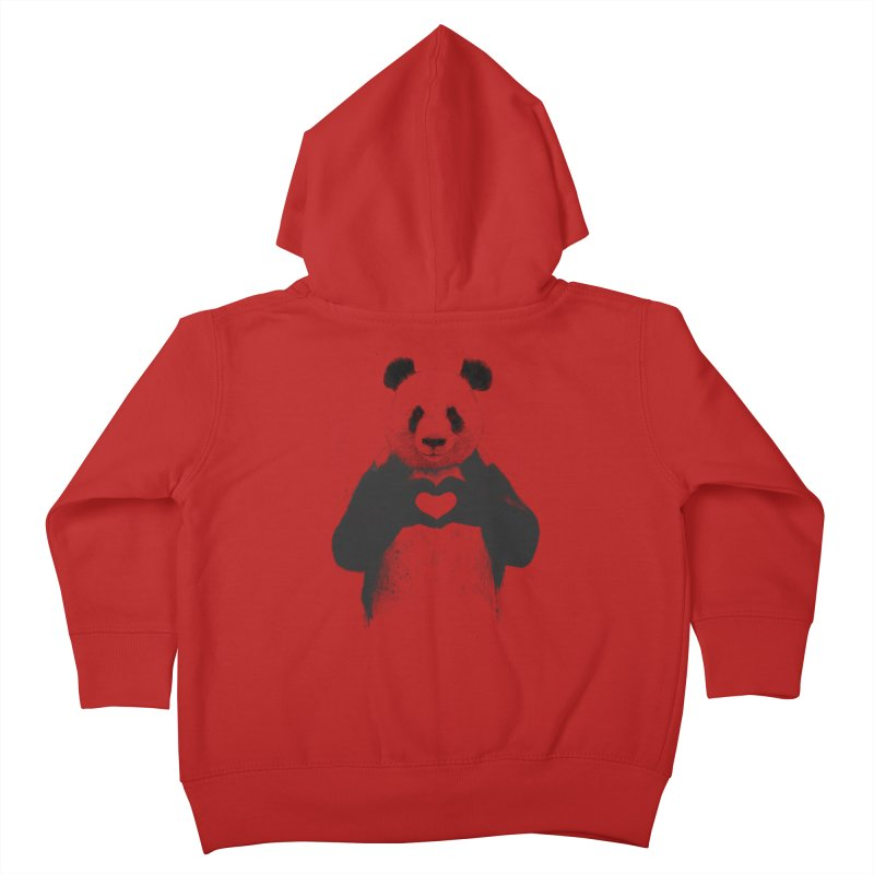 All You Need is Love Kids Toddler Zip-Up Hoody by Balazs Solti