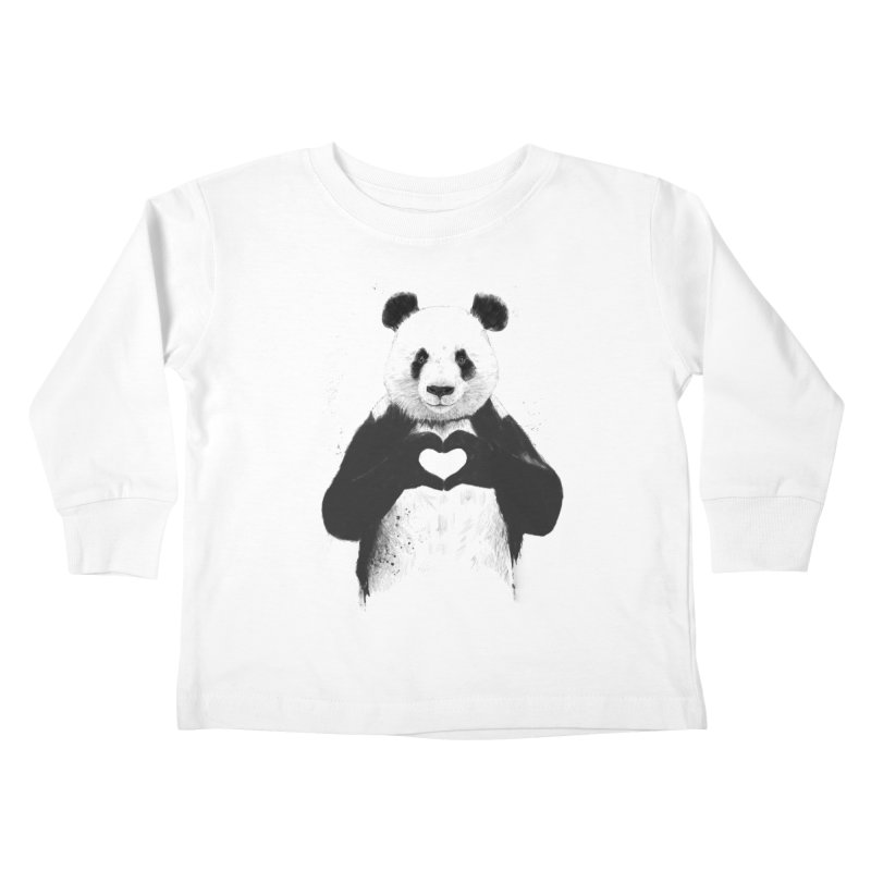 All You Need is Love Kids Toddler Longsleeve T-Shirt by Balazs Solti