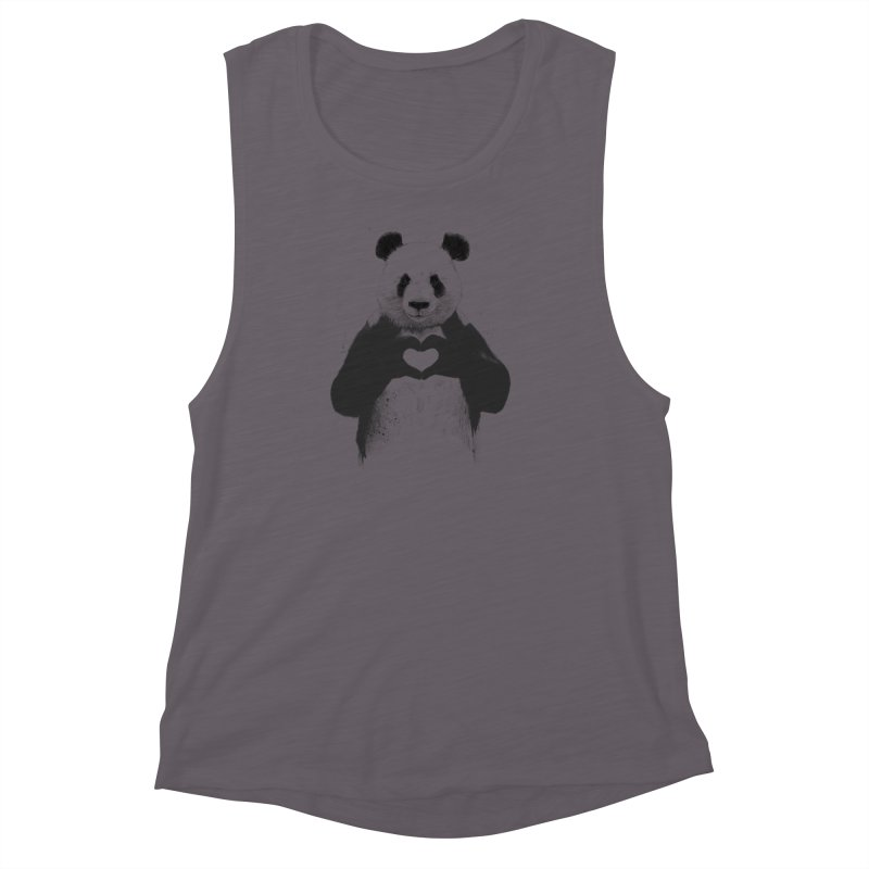 All You Need is Love Women's Muscle Tank by Balazs Solti