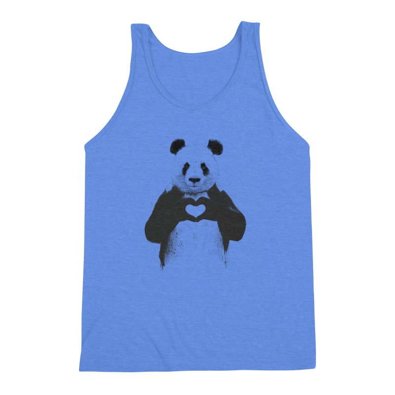 All You Need is Love Men's Triblend Tank by Balazs Solti