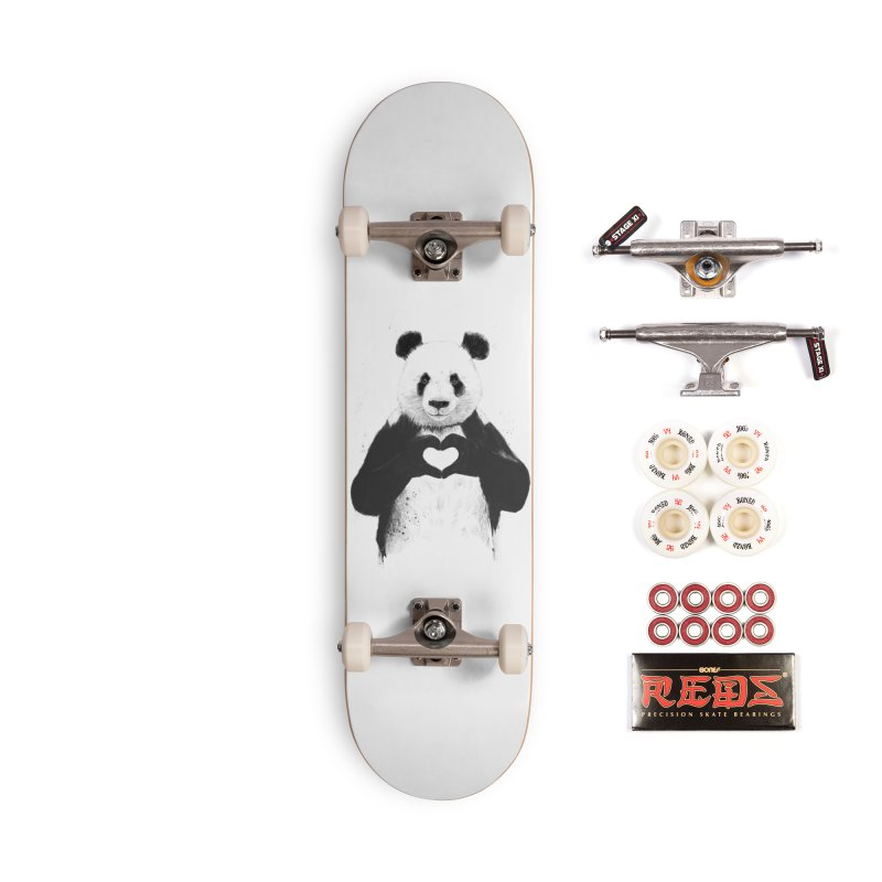 All You Need is Love Accessories Complete - Pro Skateboard by Balazs Solti