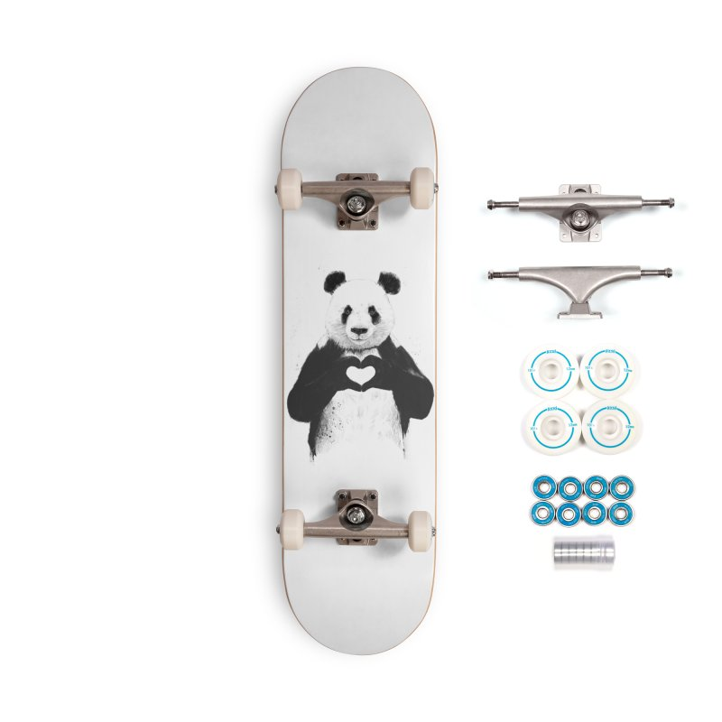 All You Need is Love Accessories Complete - Basic Skateboard by Balazs Solti