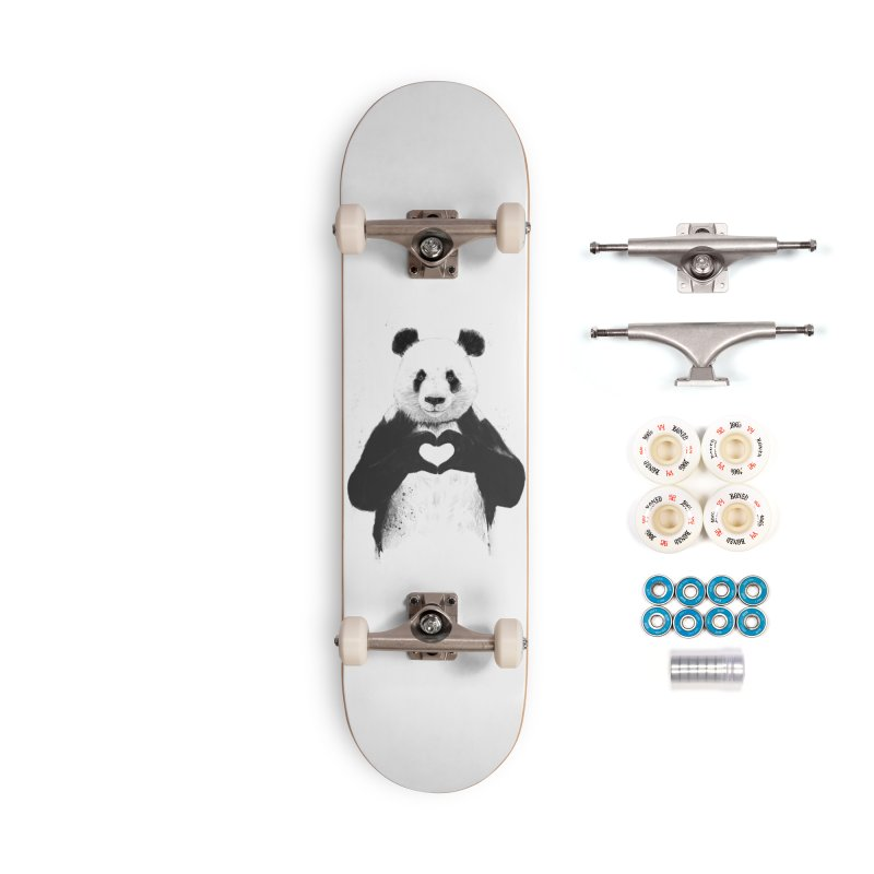 All You Need is Love Accessories Complete - Premium Skateboard by Balazs Solti
