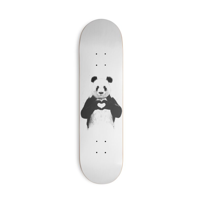 All You Need is Love Accessories Deck Only Skateboard by Balazs Solti