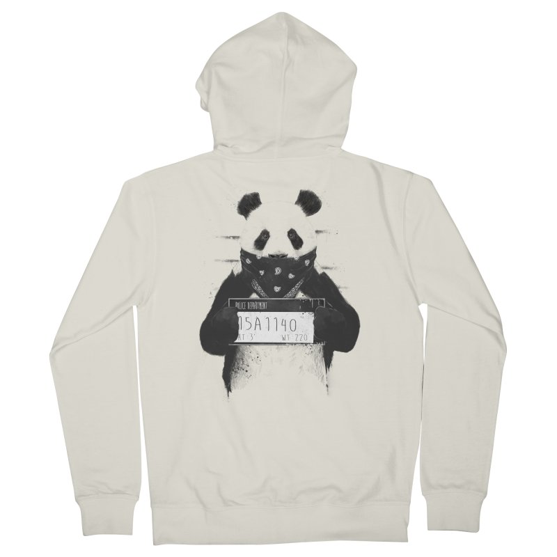 Bad Panda Women's Zip-Up Hoody by Balazs Solti