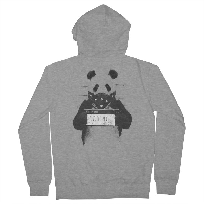 Bad Panda Men's Zip-Up Hoody by Balazs Solti