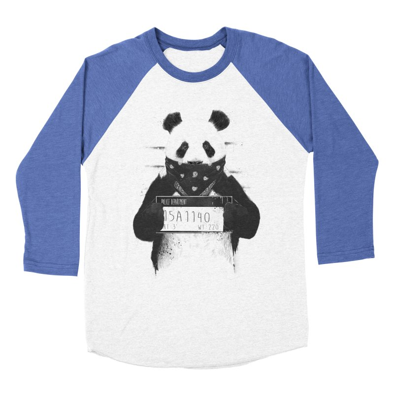 Bad Panda Men's Baseball Triblend T-Shirt by Balazs Solti