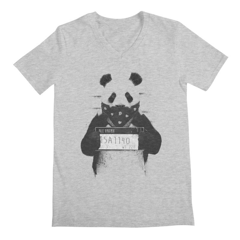 Bad Panda Men's V-Neck by Balazs Solti