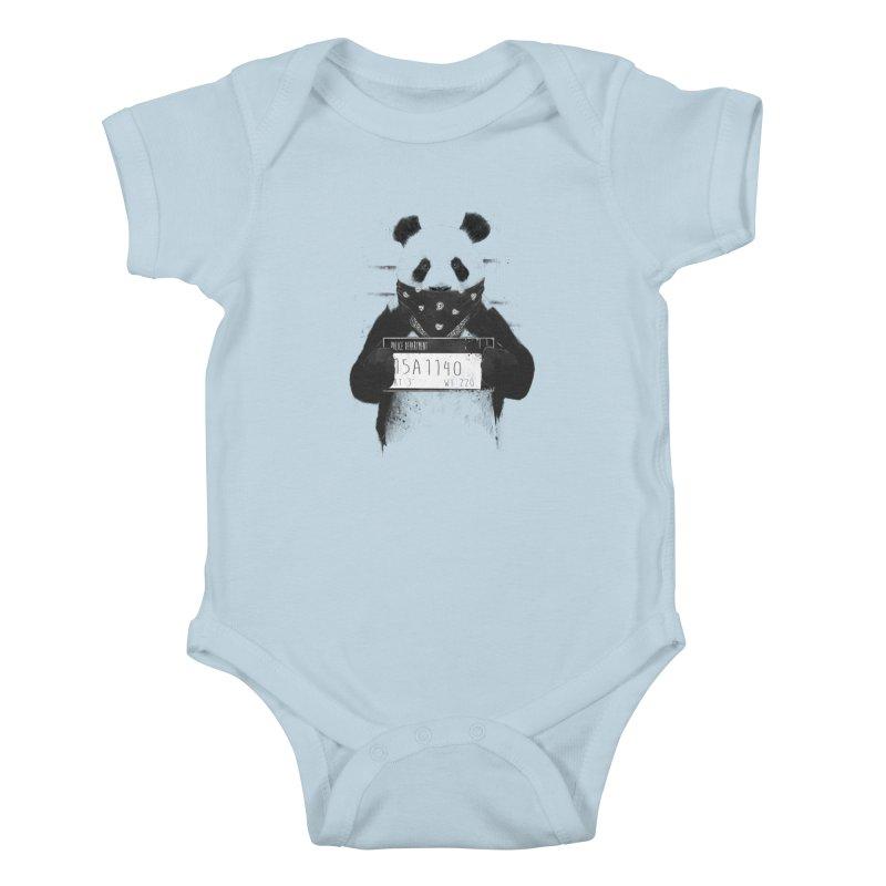 Bad Panda Kids Baby Bodysuit by Balazs Solti