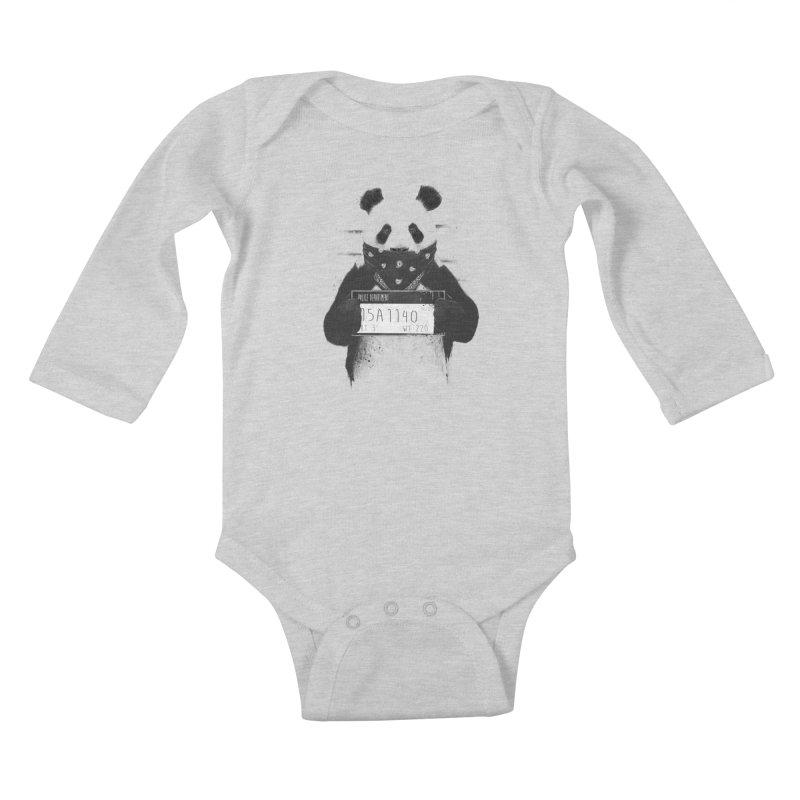 Bad Panda Kids Baby Longsleeve Bodysuit by Balazs Solti