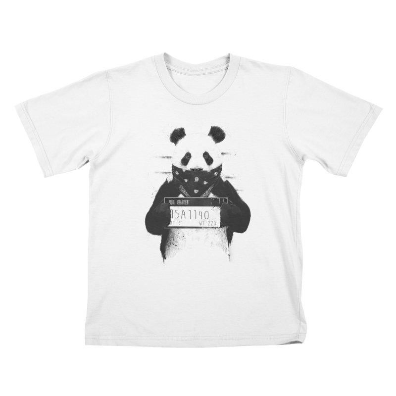 Bad Panda Kids T-shirt by Balazs Solti