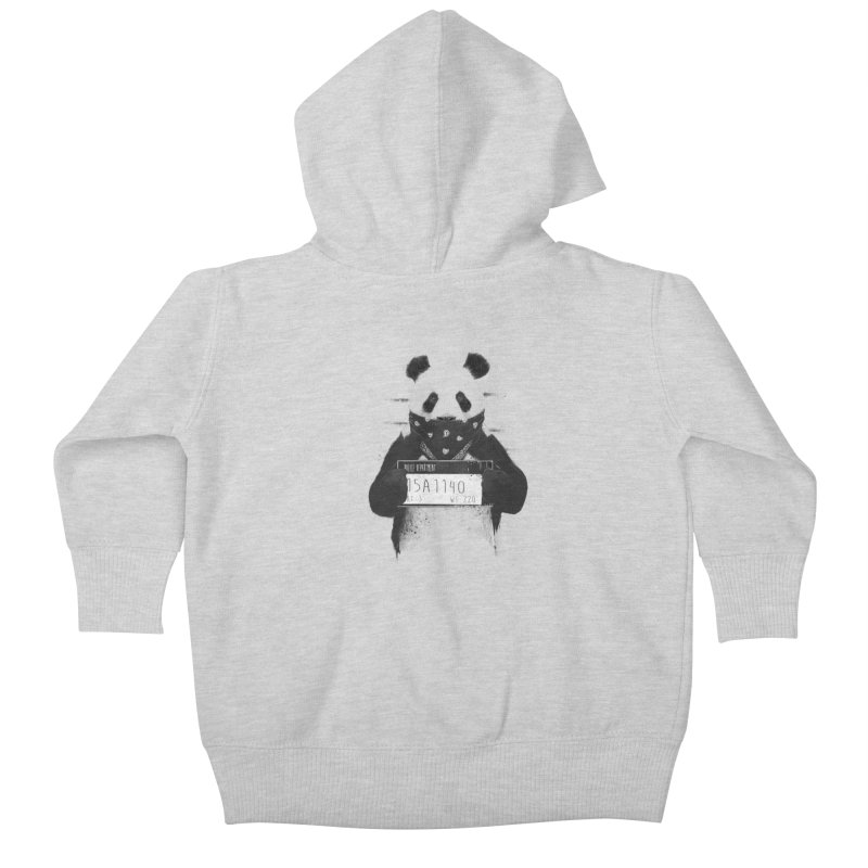 Bad Panda Kids Baby Zip-Up Hoody by Balazs Solti