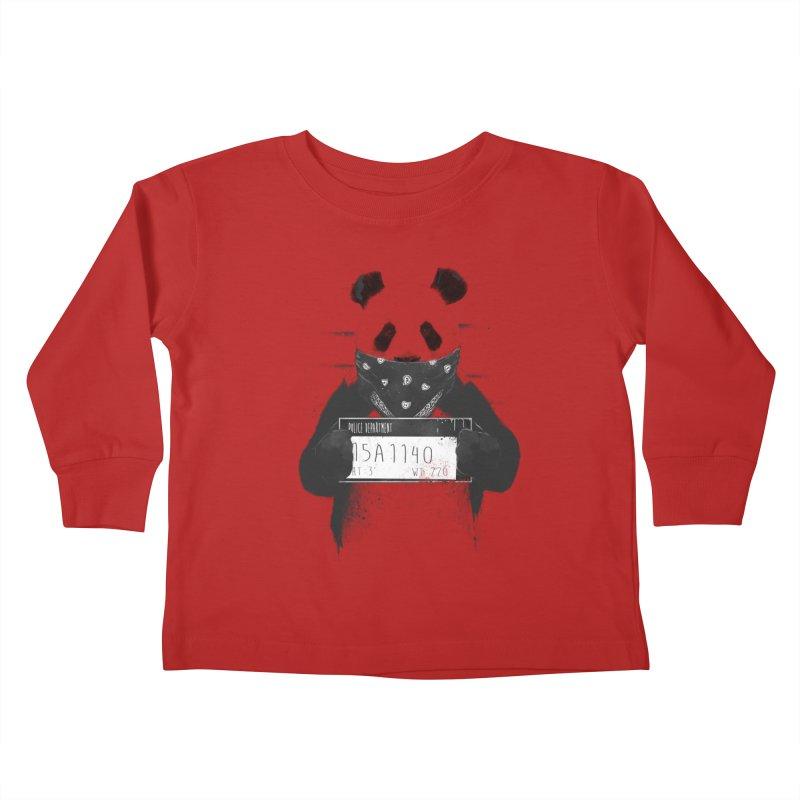 Bad Panda Kids Toddler Longsleeve T-Shirt by Balazs Solti