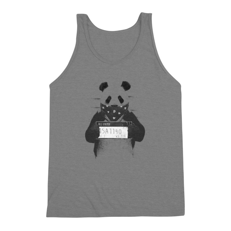 Bad Panda Men's Triblend Tank by Balazs Solti