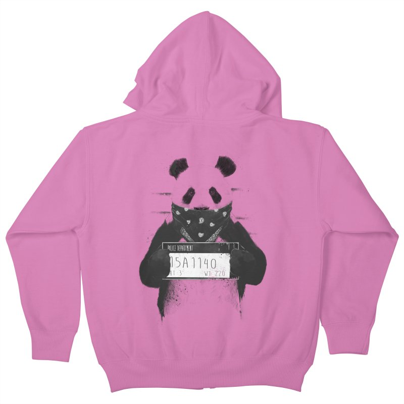 Bad Panda Kids Zip-Up Hoody by Balazs Solti