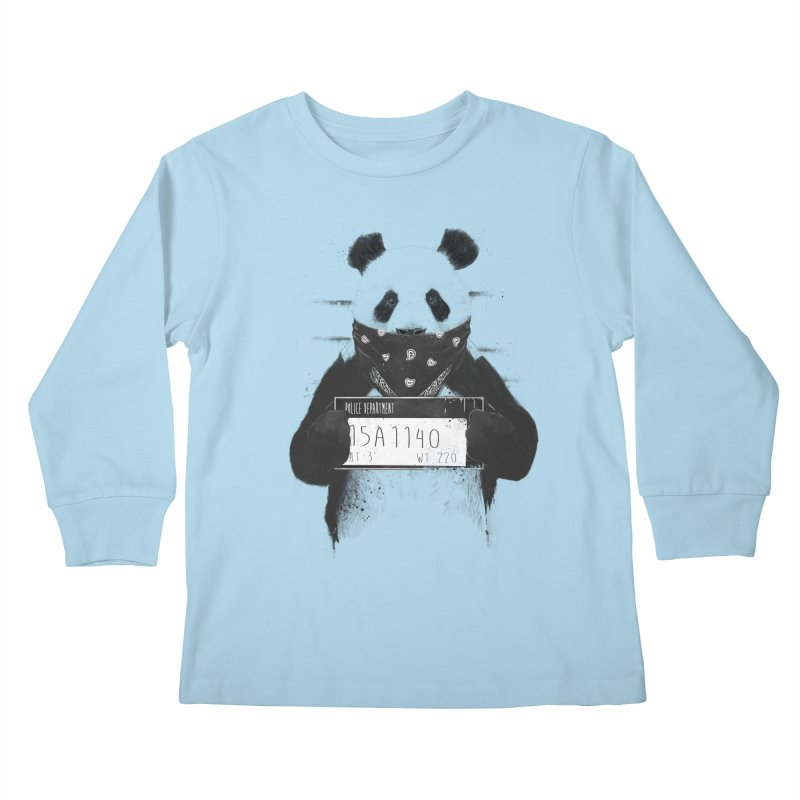 Bad Panda Kids Longsleeve T-Shirt by Balazs Solti