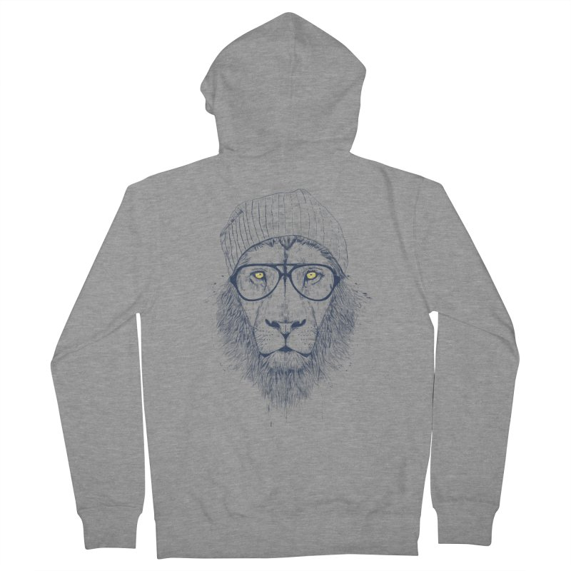 Cool Lion Men's Zip-Up Hoody by Balazs Solti