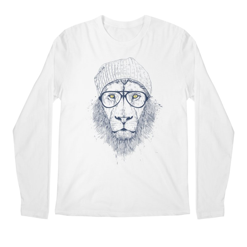 Cool Lion Men's Longsleeve T-Shirt by Balazs Solti