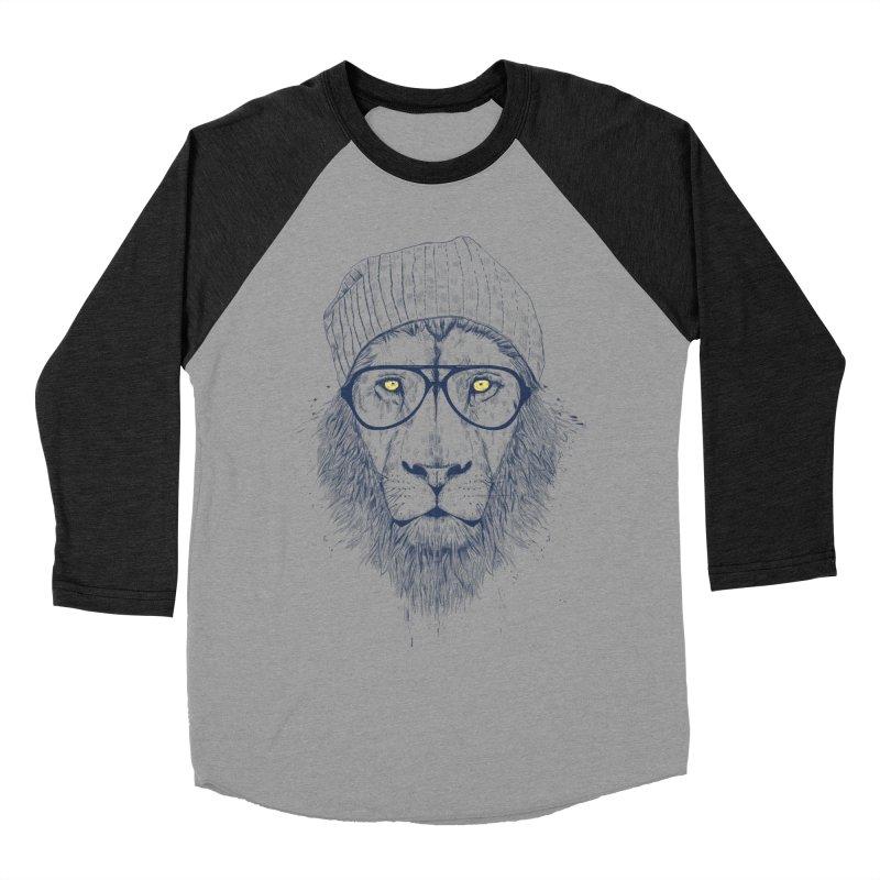 Cool Lion Men's Baseball Triblend T-Shirt by Balazs Solti