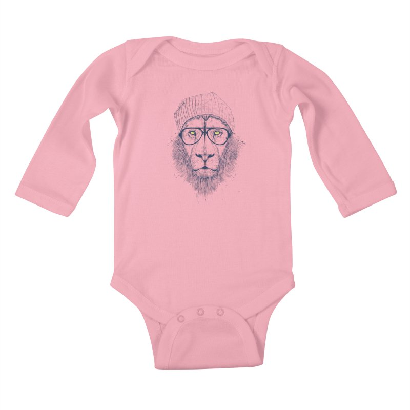 Cool Lion Kids Baby Longsleeve Bodysuit by Balazs Solti