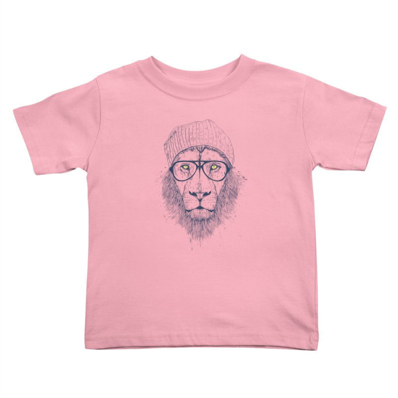 Cool Lion Kids Toddler T-Shirt by Balazs Solti