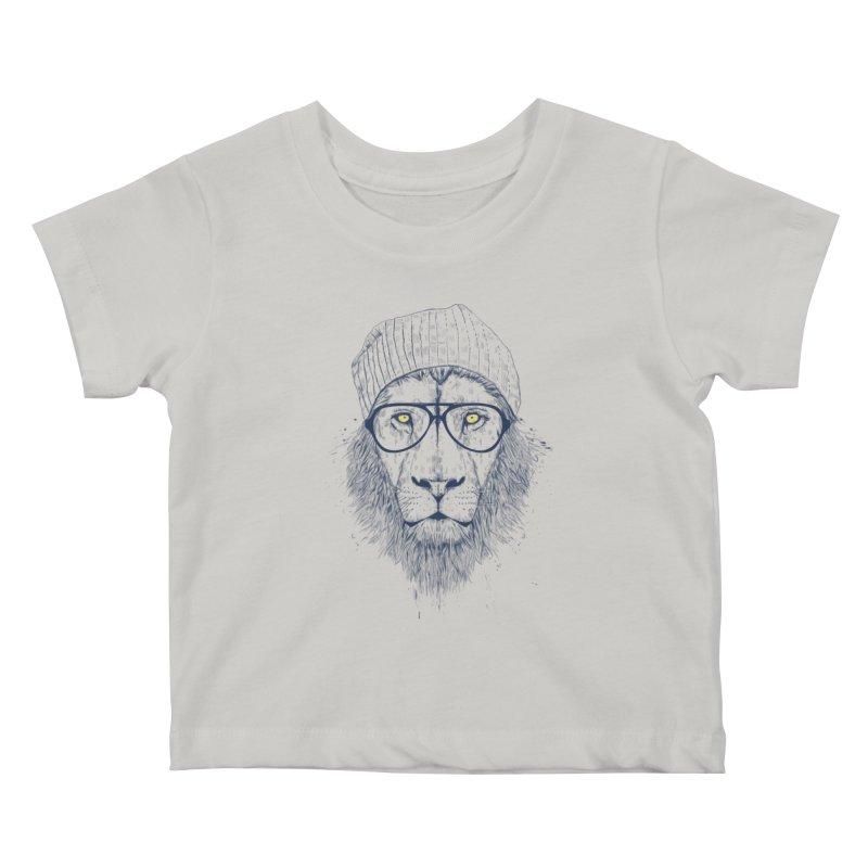 Cool Lion Kids Baby T-Shirt by Balazs Solti