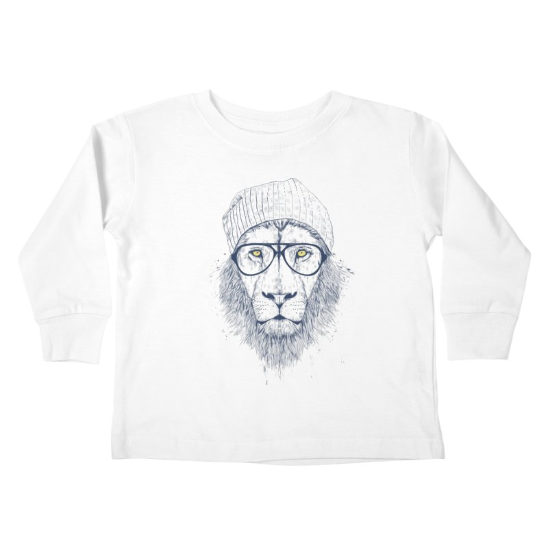 Cool Lion Kids Toddler Longsleeve T-Shirt by Balazs Solti
