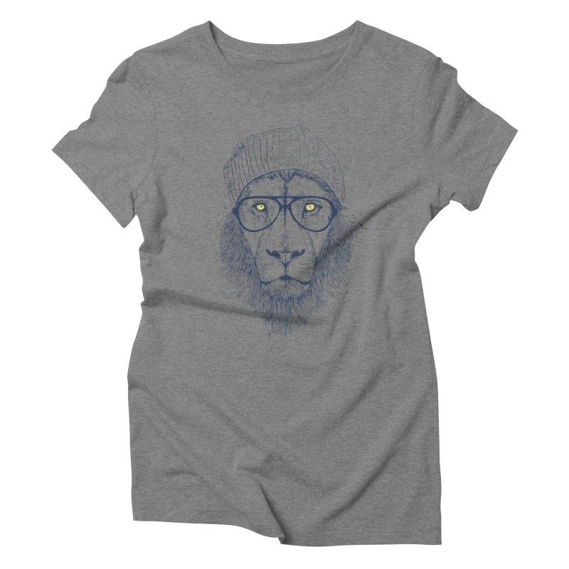Cool Lion Women's Triblend T-shirt by Balazs Solti