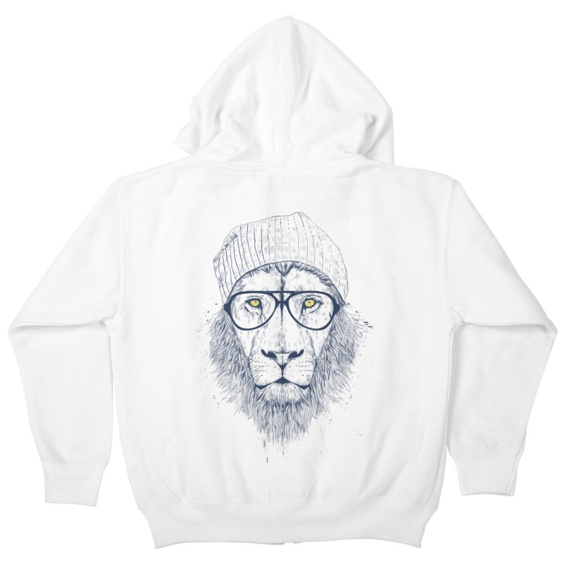 Cool Lion Kids Zip-Up Hoody by Balazs Solti