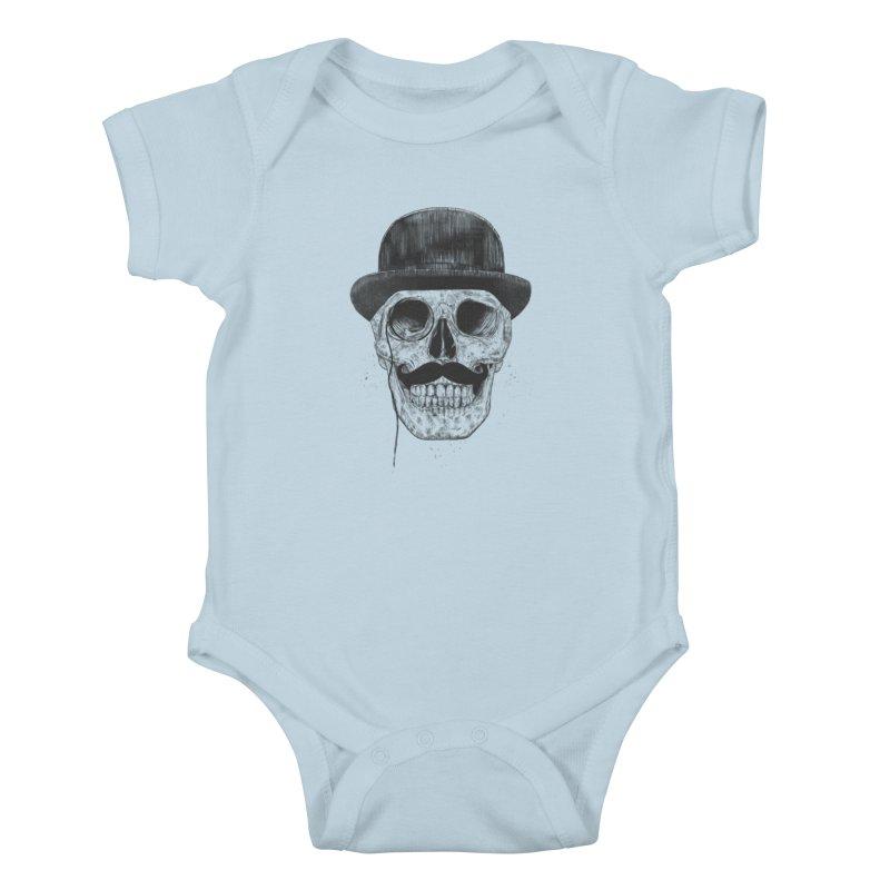 Gentlemen Never Die Kids Baby Bodysuit by Balazs Solti