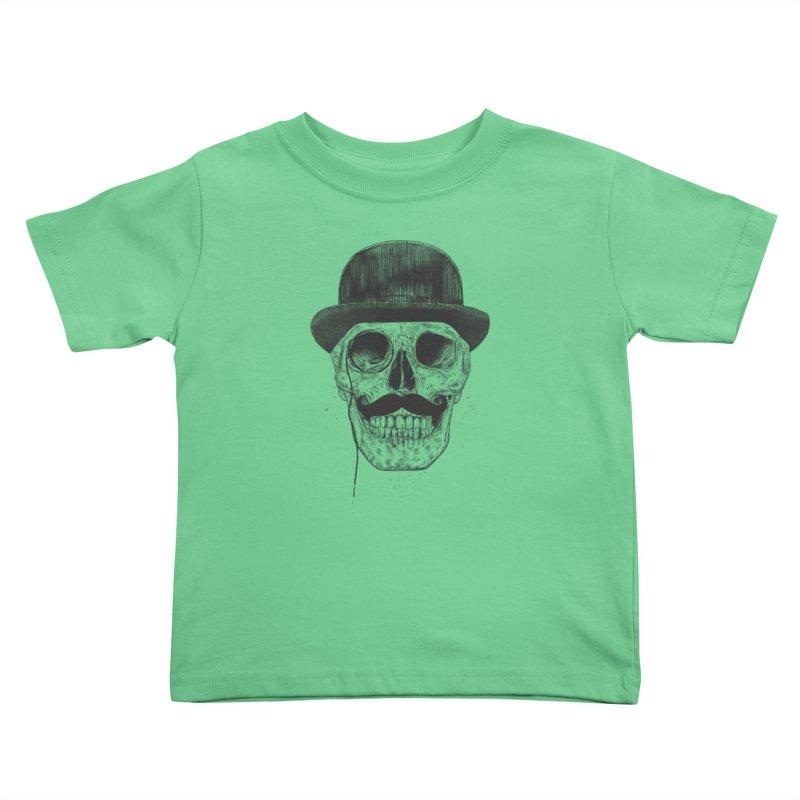 Gentlemen Never Die Kids Toddler T-Shirt by Balazs Solti