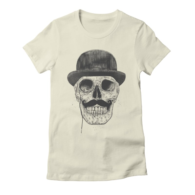 Gentlemen Never Die Women's Fitted T-Shirt by Balazs Solti